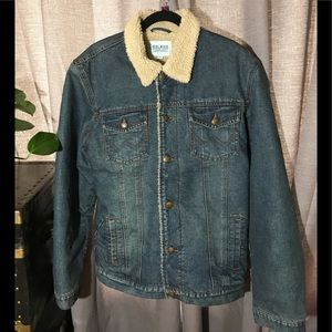 Baleno Jean jacket with inner & collar  faux fur